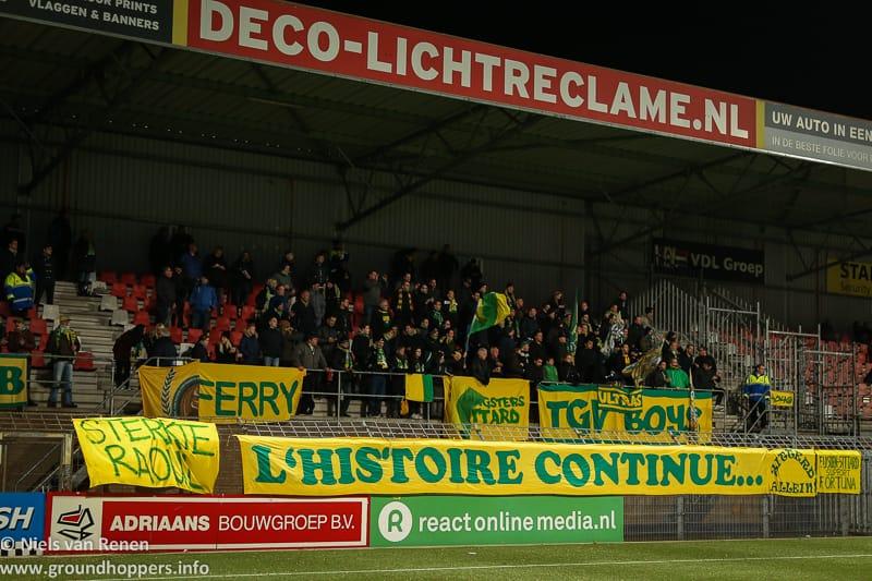 Opstelling tegen Helmond Sport
