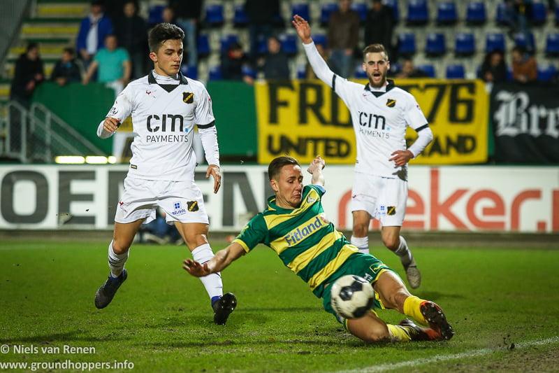 Opstelling tegen NAC Breda