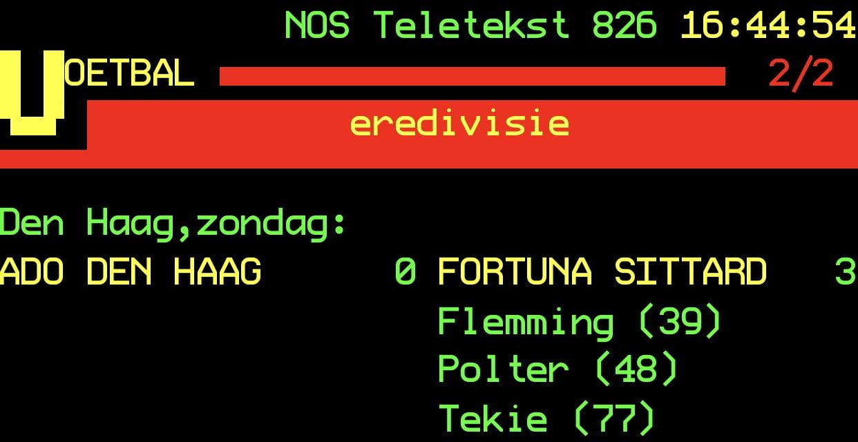 ADO Den Haag 0 Fortuna Sittard 3